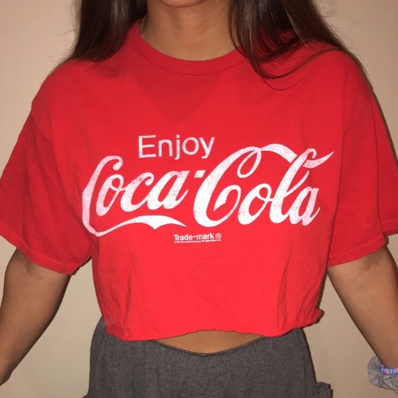 8543f424e3319 Urban Outfitters Tops - Coca Cola cropped t-shirt